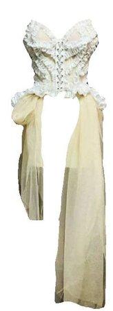Pinterest bell & nouveau rose crop top white