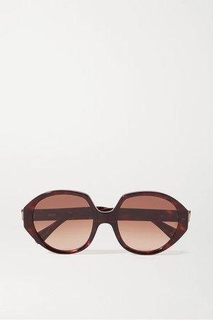 Tortoiseshell Paley oversized round-frame tortoiseshell acetate sunglasses | Kaleos | NET-A-PORTER