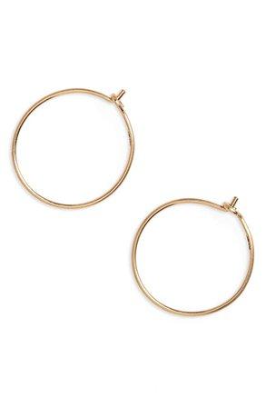 Madewell Delicate Wire Hoop Earrings