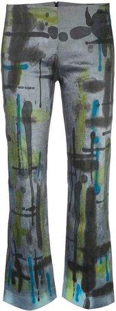 cropped tie dye trousers