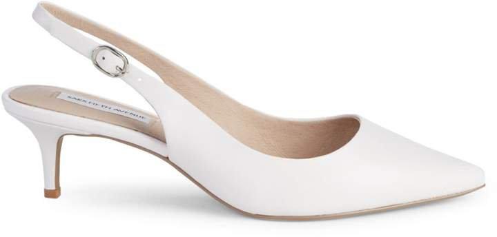 Daria Leather Kitten-Heel Slingback Pumps