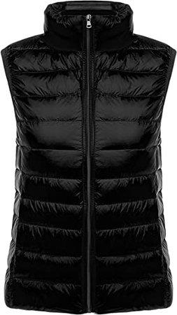 Yeokou Womens Slim Packable Lightweight Quilted Short Puffer Down Vest Waistcoat at Amazon Women's Coats Shop