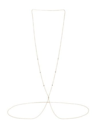 Jacquie Aiche 14Kt Yellow Gold Diamond Spaced Out Body Chain JA7DSOBCTCY Metallic | Farfetch