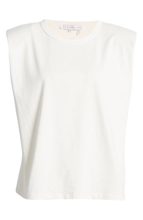 Endless Rose Padded Shoulder T-Shirt | Nordstrom