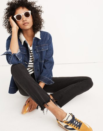 Tall Cali Demi-Boot Jeans in Berkeley Black: Chewed-Hem Edition