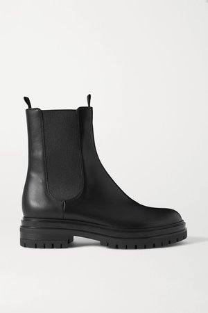 Black Leather Chelsea boots | Gianvito Rossi | NET-A-PORTER