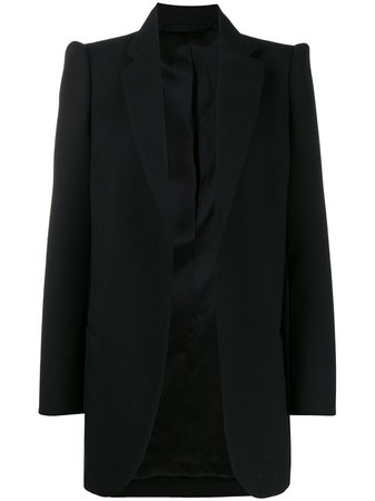 Black Balenciaga Structured Shoulders Blazer   Farfetch.com