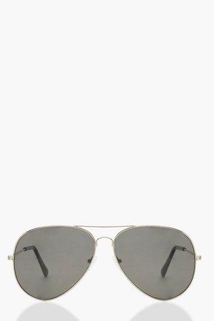 Oversized Aviator Sunglasses | Boohoo