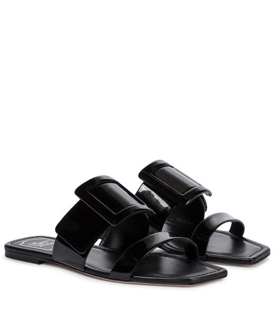Roger Vivier - Patent leather sandals | Mytheresa