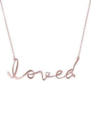 Ted Baker London Larna - Loved Script Necklace | Nordstrom