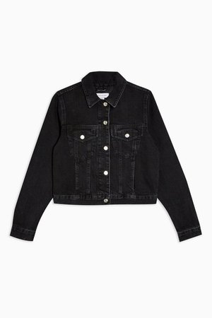 Slim Fit Washed Black Denim Jacket | Topshop