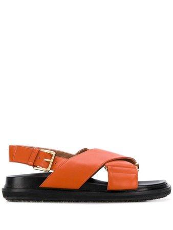 orange Marni dad sandals