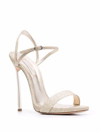Casadei metallic-finish sandals - FARFETCH