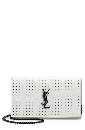 Saint Laurent Kate Square Dot Wallet on a Chain | Nordstrom