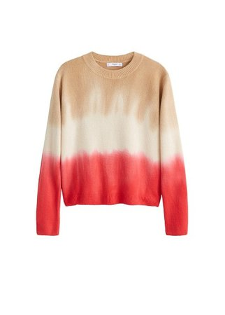 MANGO Tricolor knit sweater