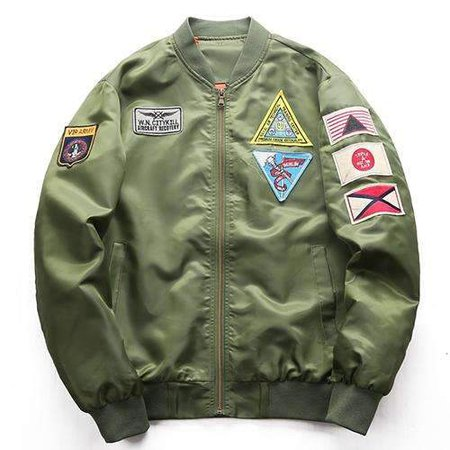 MILITARY BOMBER JACKET - ARMY GREEN – CLOUT CULTURE