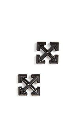 Off-White Маленькие серьги в виде стрел | SHOPBOP