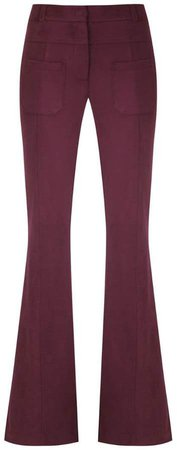 slim fit flared trousers