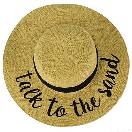 C.C Always on Vacay Wide Brim 4\ Summer Derby Beach Pool Floppy Dress Sun Hat at Amazon Women's Clothing store