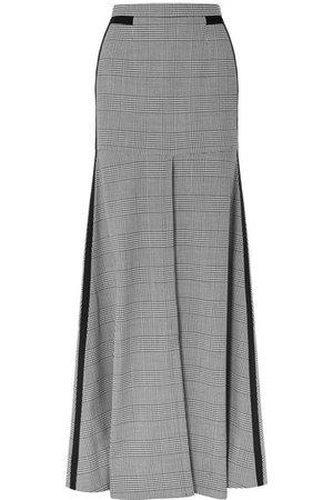 Hellessy   Merritt grosgrain-trimmed houndstooth tweed maxi skirt   NET-A-PORTER.COM