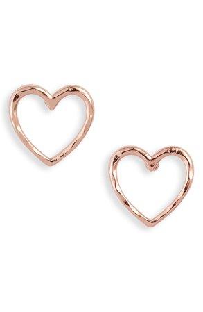 Stella & Dot Essential Hammered Heart Stud Earrings | Nordstrom