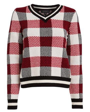 Gabby Checked Wool Sweater
