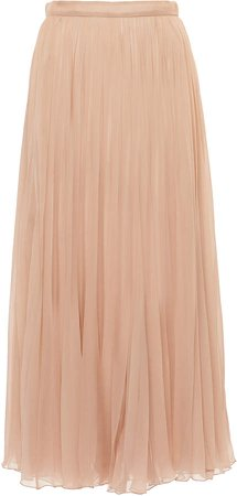 Valentino Pleated Silk Skirt