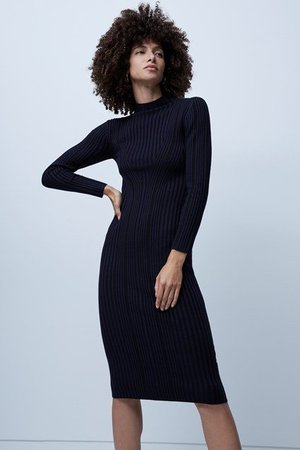 Jolie Knits Mock Neck Dress | New Arrivals | French Connection Usa