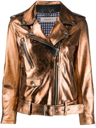 Golden Goose Metallic Sheen Biker Jacket - Farfetch