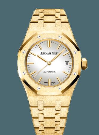 Audemars Piguet, ROYAL OAK FROSTED GOLD WATCH
