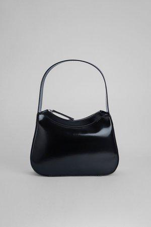 Kiki Black Semi Patent Leather – BY FAR