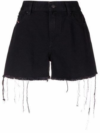 Diesel frayed-hem denim shorts - FARFETCH