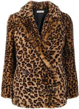 Zadig&Voltaire Mottys leopard print coat