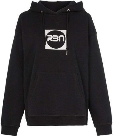 RBN X logo print hooded cotton jumper