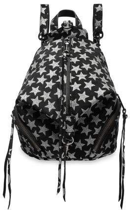 Julian Convertible Glittered Suede Backpack
