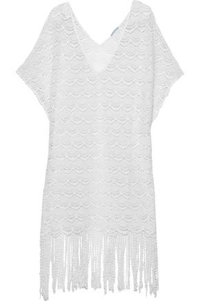 Fringed crocheted cotton coverup | EBERJEY | Sale up to 70% off | THE OUTNET