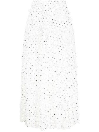 Joseph Polka Dot Pleated Silk Skirt - Farfetch