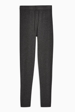 Charcoal Grey Topshop Elastic Leggings | Topshop