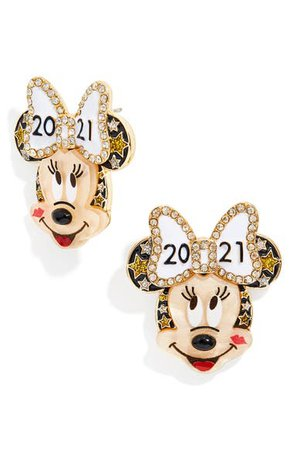 BaubleBar Disney® New Year 2021 Minnie Mouse Statement Stud Earrings | Nordstrom