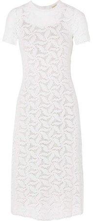 Crocheted Cotton Dress - White