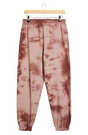 Topshop Tie Dye Joggers | rust