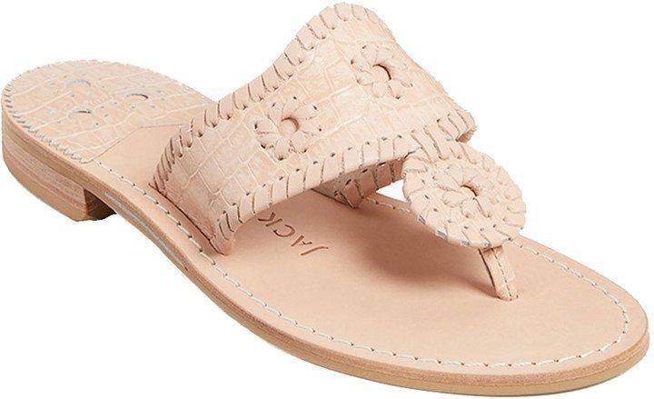 Croc Embossed Sandal