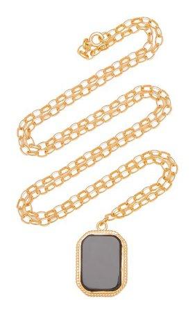 Onyx 18k Gold-Plated Necklace By Maison Irem | Moda Operandi