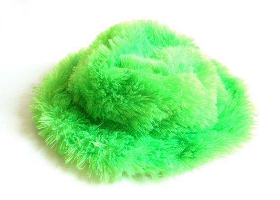 90's Fuzzy Neon Green Bucket Hat