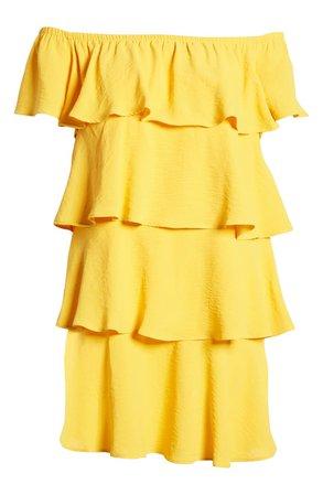 Gibson x Hot Summer Nights Natalie Off The Shoulder Ruffle Dress (Regular & Petite) (Nordstrom Exclusive) | Nordstrom