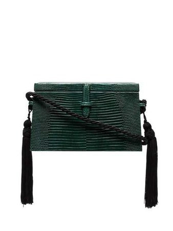 Hunting Season Green Lizard Skin Box Bag - Farfetch