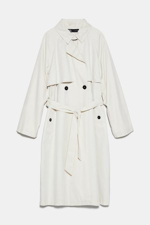 BELTED TRENCH COAT | ZARA United States white