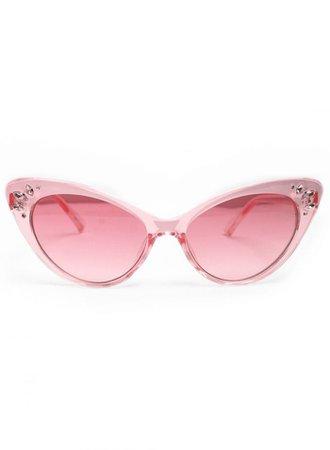 JoJo Pink Tinted Retro Sunglasses - British Retro