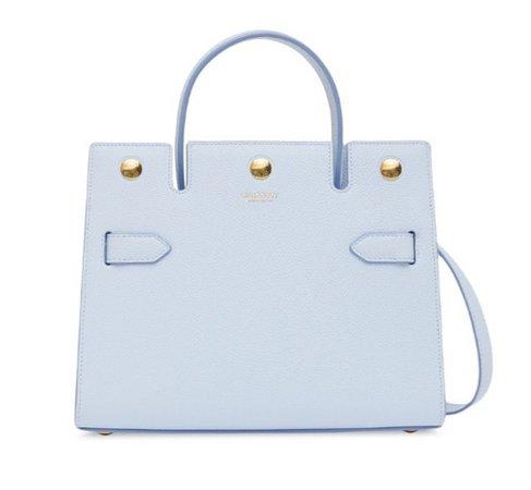 egg blu Burberry purse