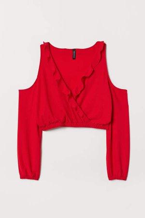 Open-shoulder Top - Red